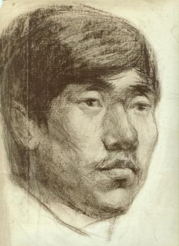 碳素笔画男人头像