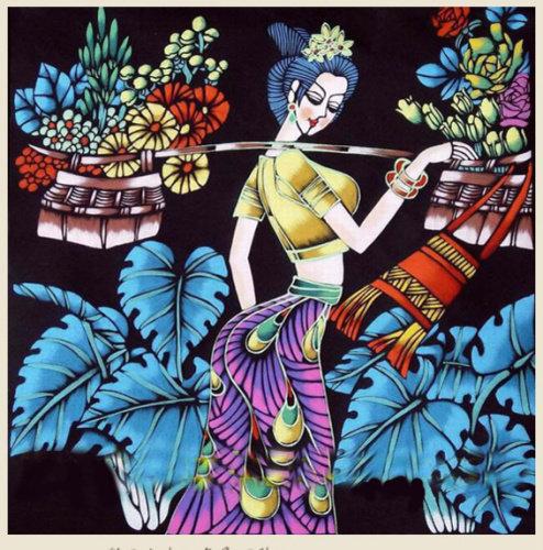 云南现代重彩画是20世纪80年代初由丁绍光
