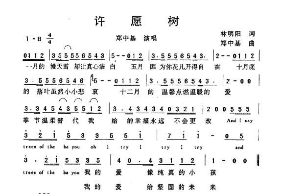 许愿树-曲谱歌谱大全-搜狐博客