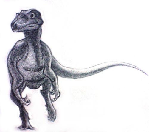 小恐龙铅笔画