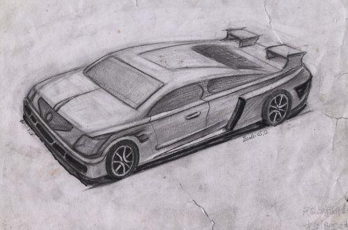 手绘汽车设计,摩托车设计效果图