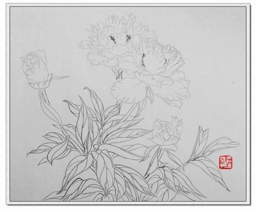 白描 刺绣 刺绣图案 工笔