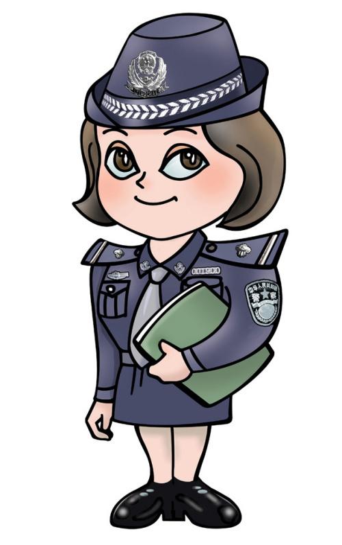 """二, 女警卡通形象 作为""""警营之花""""的此款形象,无疑是这组图片"""