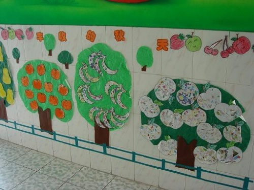 班主墙饰 汉字乐园     主题墙饰---丰收的秋天一   娃娃的脸 一