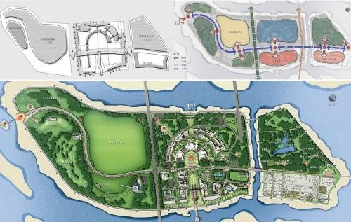 松花江旁边美丽的太阳岛以及太阳岛规划平面图