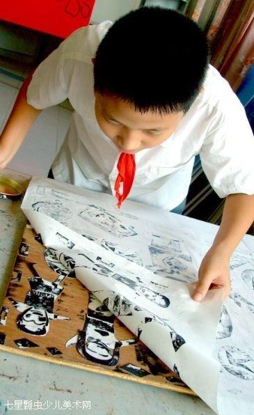 六年级美术用纸板画画图片