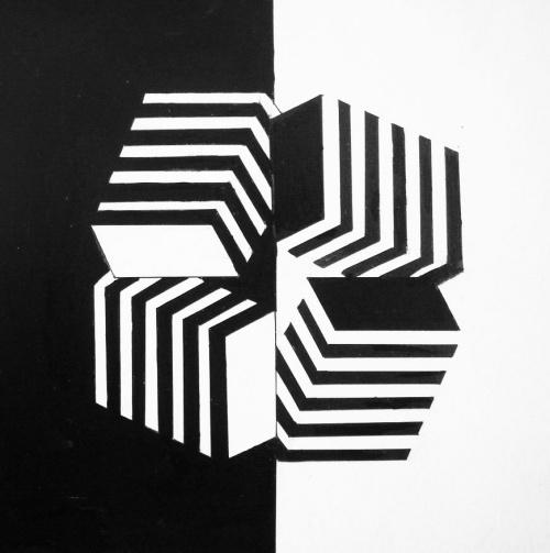 平面构成的基本形式——空间构成; 平面构成-对比,矛盾空间,肌理,情绪图片