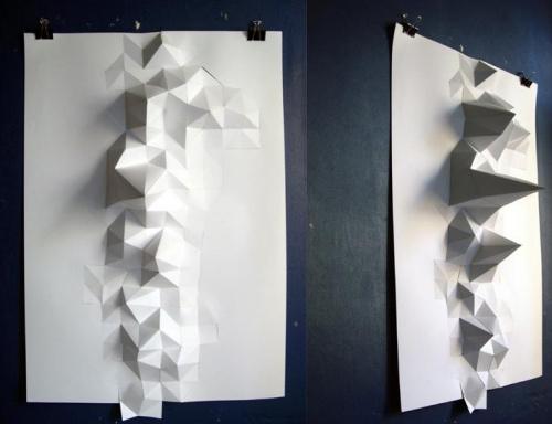 最喜欢把立体构成的纸感结合在平面上