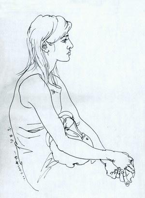 欧美花胸手绘图