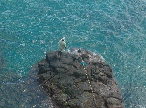 攀岩大海 人素材 高清