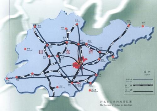 沂水地理电网接线图